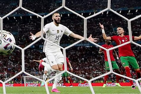 pepe reaction on Benzema penalty